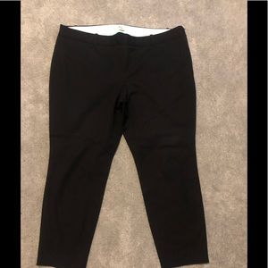 J crew black dress pants with side zipper